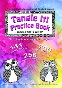 Tangle It Practice Book Black & White Edition